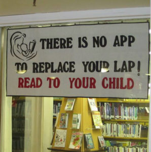 There is no app to replace your lap! Read to your child